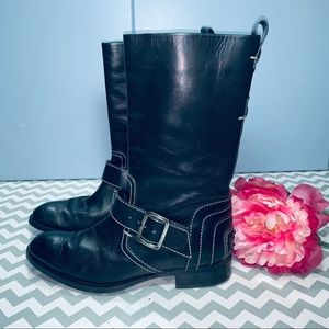 TOD'S Black Dandy Boots/Booties Size: US 7B